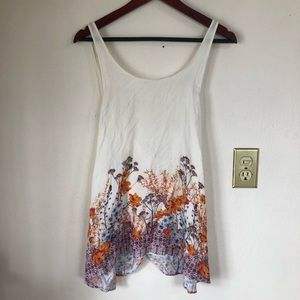 Free People Intimately Floral Criss Cross Tank Top